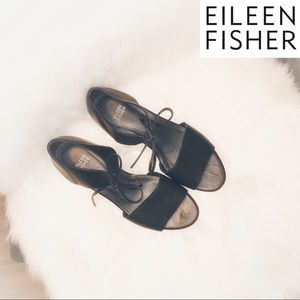 Eileen Fisher Ely Leather Tie Sandals